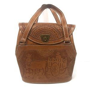 Unique leather handbag purse farm country